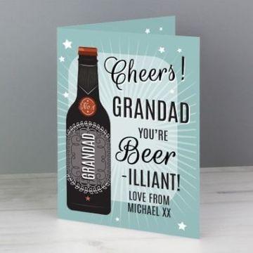 Personalised Beer-illiant Card
