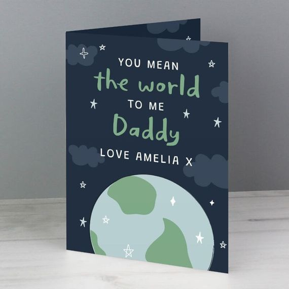 Personalised You Mean The World To Me Card
