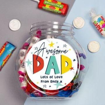 Personalised Awesome Dad Sweet Jar