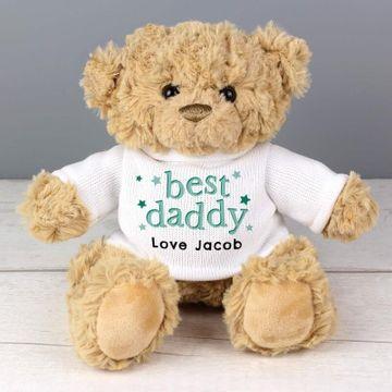 Personalised Best Daddy Teddy Bear