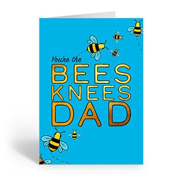 Personalised 'You're The Bees Knees Dad' Card (Medium)
