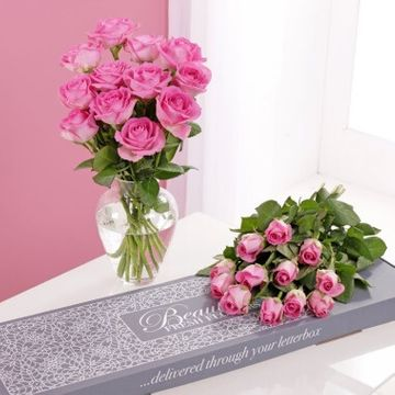 Letterbox Pink Roses