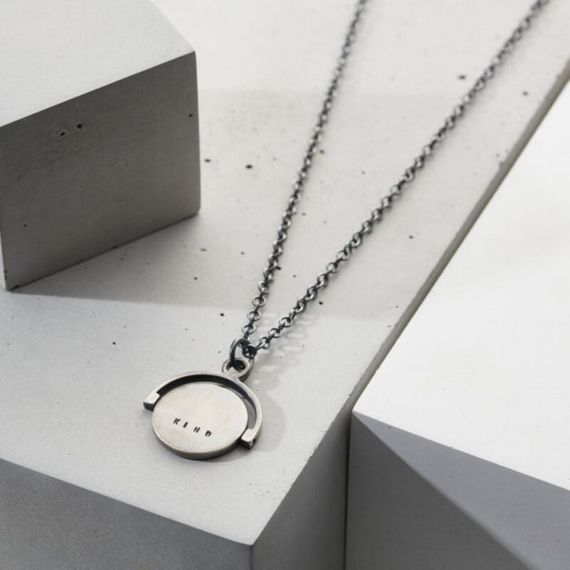 Personalised Men's Spinner Disc Necklace