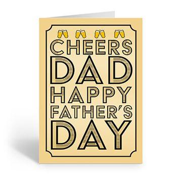 Personalised 'Cheers Dad' Card (Medium)