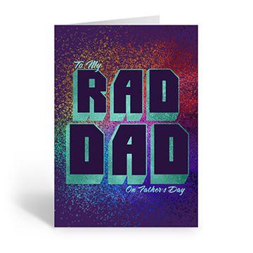 Personalised 'Rad Dad' Card (Medium)
