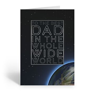 Personalised 'Best Dad In The Whole Wide World' Card (Medium)