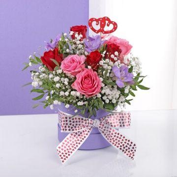 Twin Heart Lilac Hat Box
