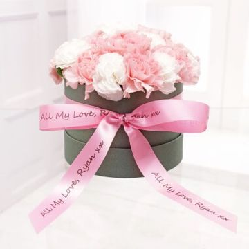 Personalised Pastel Carnation Hat Box