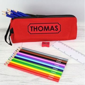 Personalised Pencil Case Set