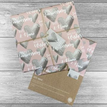 Personalised Happy Anniversary Gift Wrap