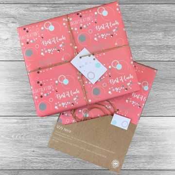 Personalised Best of Luck Gift Wrap