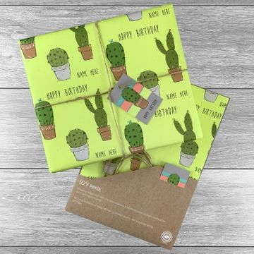 Personalised Cactus Any Occasion Gift Wrap