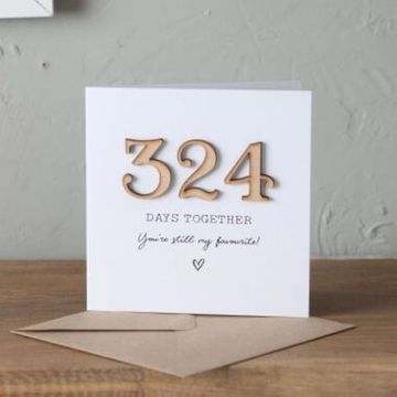 Personalised Days We've Been Together Time Card