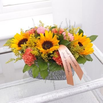 Personalised Sunflower Trough