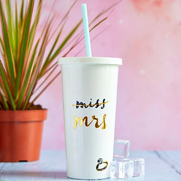 Kate Spade Miss To Mrs Tumbler With Straw