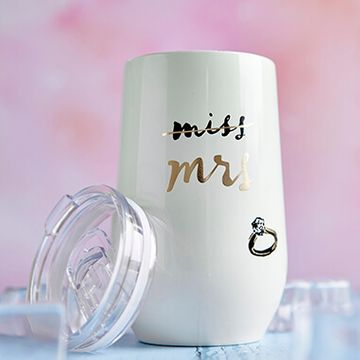 Kate Spade Miss To Mrs Stainless Steel Wine Tumbler
