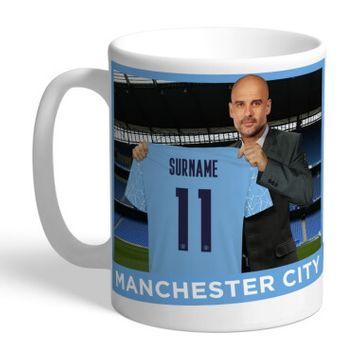 Personalised Manchester City FC Manager Mug