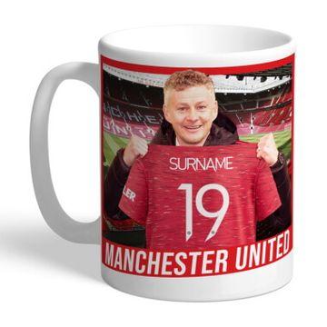 Personalised Manchester United FC Manager Mug