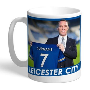 Personalised Leicester City FC Manager Mug