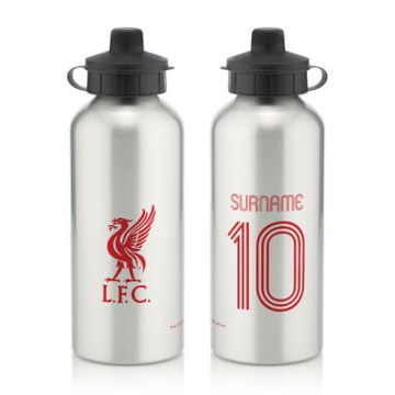 Personalised Liverpool FC Retro Shirt Water Bottle