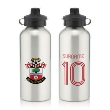 Personalised Southampton FC Retro Shirt Water Bottle