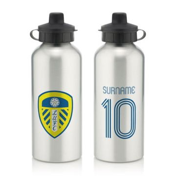 Personalised Leeds United FC Retro Shirt Water Bottle