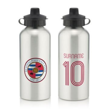 Personalised Reading FC Retro Shirt Water Bottle