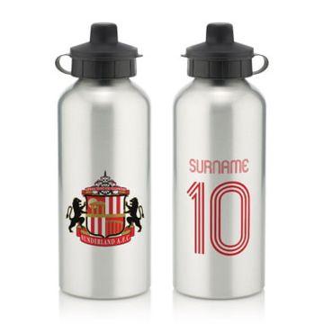 Personalised Sunderland AFC Retro Shirt Water Bottle