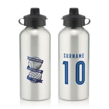 Personalised Birmingham City Retro Shirt Water Bottle