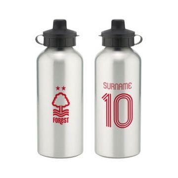 Personalised Nottingham Forest FC Retro Shirt Water Bottle
