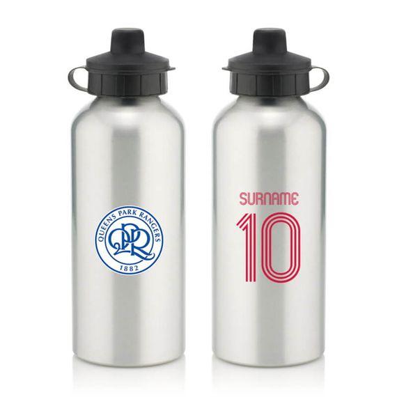 Personalised Queens Park Rangers FC Retro Shirt Water Bottle