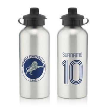 Personalised Millwall Retro Shirt Water Bottle