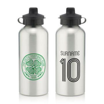 Personalised Celtic FC Retro Shirt Water Bottle