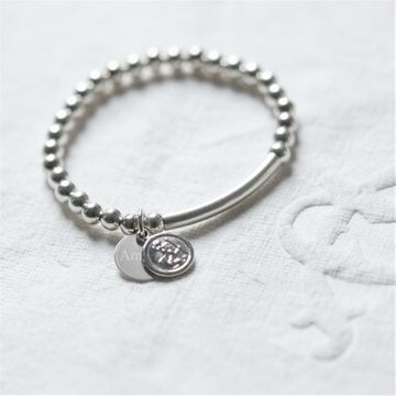 Personalised St Christopher Silver Baby Bracelet