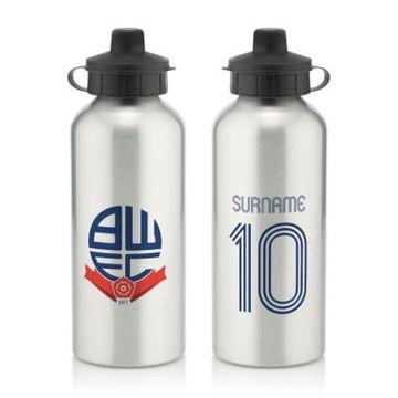 Personalised Bolton Wanderers Retro Shirt Water Bottle