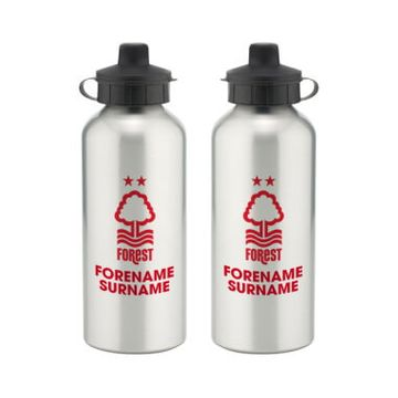 Personalised Nottingham Forest Bold Crest Water Bottle