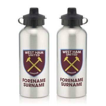 Personalised West Ham United FC Bold Crest Water Bottle