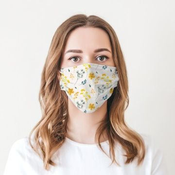 Delicate Flowers Face Mask