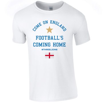 Personalised Come On England Adult T-Shirt