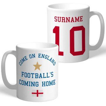 Personalised Come On England Mug