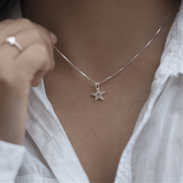 Personalised Tiny Sterling Star Necklace