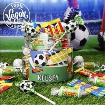 Personalised Football Fan Sweet Jar - Small