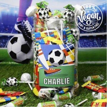 Personalised Football Fan Sweet Jar