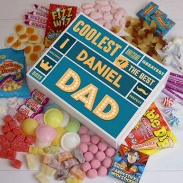 Personalised Best Dad - White Deluxe Sweet Box