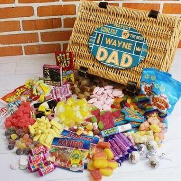 Personalised Best Dad - Retro Sweet Hamper