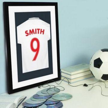 Personalised Football Shirt Print - England