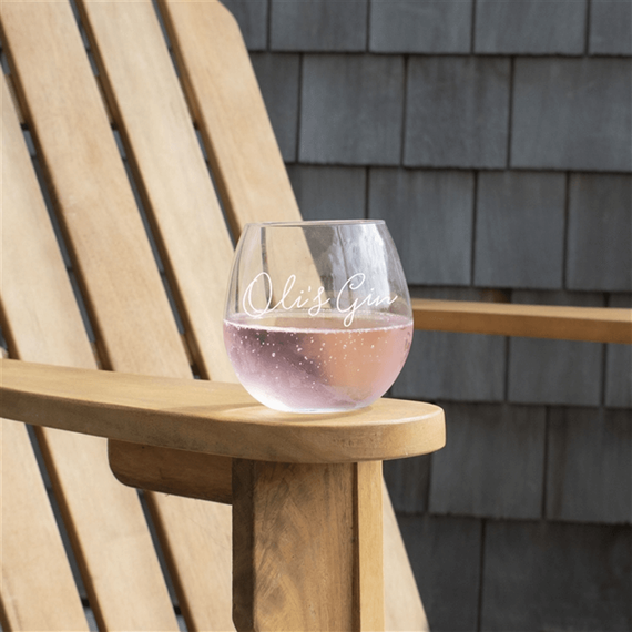 Personalised Stemless Gin Glass