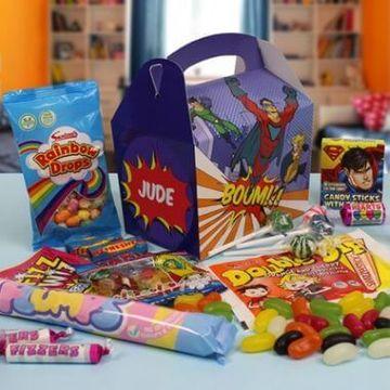Personalised Super Hero Sweet Box