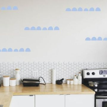 Abstract Bumps Wall Decal Sticker Set