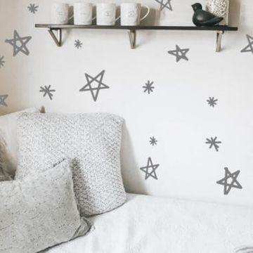 Hand-drawn Stars Wall Stickers